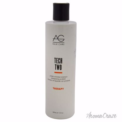 AG Hair Cosmetics Tech Two Protein-Enriched Shampoo Unisex 10 oz - Hair Shampoo | Best Shampoo For Hair Growth | Shampoo and Conditioner For Damage Hair | Fizzy Hair Shampoo | Best Professional Shampoo | Top Brands Hair Care Products | AromaCraze.com