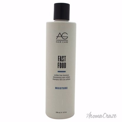 AG Hair Cosmetics Moisture Fast Food Sulfate-Free Shampoo Unisex 10 oz - Hair Shampoo | Best Shampoo For Hair Growth | Shampoo and Conditioner For Damage Hair | Fizzy Hair Shampoo | Best Professional Shampoo | Top Brands Hair Care Products | AromaCraze.com