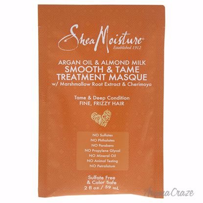 Shea Moisture Argan Oil & Almond Milk Smooth & Tame Treatment Masque Unisex 2 oz - Hair Styling Products | Hair Styling Cream | Hair Spray | Hair Styling Products For Men | Hair Styling Products For Women | Hair Care Products | AromaCraze.com