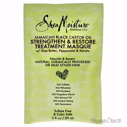 Shea Moisture Jamaican Black Castor Oil Strengthen-Grow & Restore Treatment Masque Unisex 2 oz - Hair Treatment Products | Best Hair Styling Product | Hair Oil Treatment | Damage Hair Treatment | Hair Care Products | Hair Spray | Hair Volumizing Product | AromaCraze.com