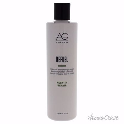 AG Hair Cosmetics Refuel Sulfate-Free Strengthening Shampoo Unisex 10 oz - Hair Shampoo | Best Shampoo For Hair Growth | Shampoo and Conditioner For Damage Hair | Fizzy Hair Shampoo | Best Professional Shampoo | Top Brands Hair Care Products | AromaCraze.com