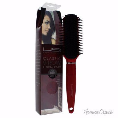 HSI Professional Classic 9 Row Flat Brush Model # 3 Red Hair