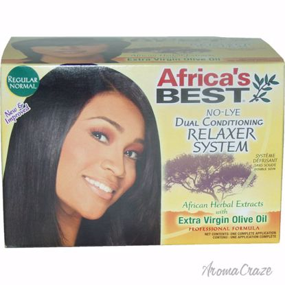 Africa's Best No-Lye Dual Conditioning Relaxer System Regular Activator, Neutralizing Shampoo, Deep Conditioner, Cream Relaxer Unisex 1 Application - Hair Shampoo | Best Shampoo For Hair Growth | Shampoo and Conditioner For Damage Hair | Fizzy Hair Shampoo | Best Professional Shampoo | Top Brands Hair Care Products | AromaCraze.com