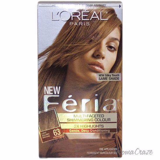 L Oreal Paris Feria Multi Faceted Shimmering Color 3x Highlights 63 Light Golden Brown Warmer Hair Color Unisex 1 Application