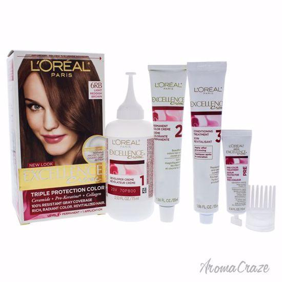 L Oreal Paris Excellence Creme Pro Keratine 6rb Light Reddish Brown Warmer Hair Color Unisex 1 Application