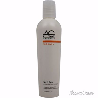 AG Hair Cosmetics Tech Two Protein-Enriched Shampoo Unisex 8 oz - Hair Shampoo | Best Shampoo For Hair Growth | Shampoo and Conditioner For Damage Hair | Fizzy Hair Shampoo | Best Professional Shampoo | Top Brands Hair Care Products | AromaCraze.com