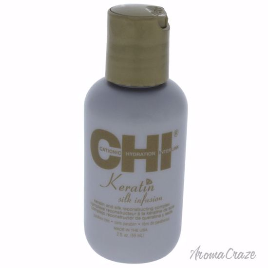 CHI Keratin Silk Infusion Reconstructer Unisex 2 oz - Hair Treatment Products | Best Hair Styling Product | Hair Oil Treatment | Damage Hair Treatment | Hair Care Products | Hair Spray | Hair Volumizing Product | AromaCraze.com