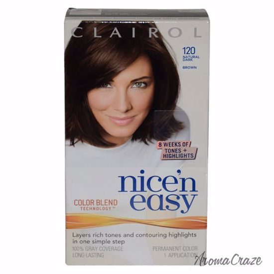 Clairol Nice\'n Easy Color Blend # 120 Natural Dark Brown Hair Color for  Women 1 Application