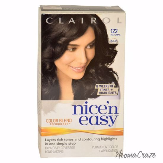 Clairol Nice\'n Easy Color Blend # 122 Natural Black Hair Color for Women 1  Application