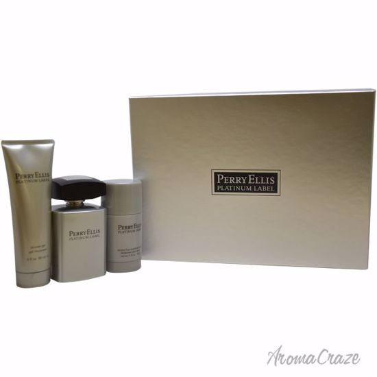 Perry Ellis Platinum Label Gift Set for Men 3 pc