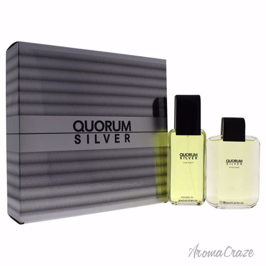 Antonio Puig Quorum Silver Gift Set for Men 2 pc