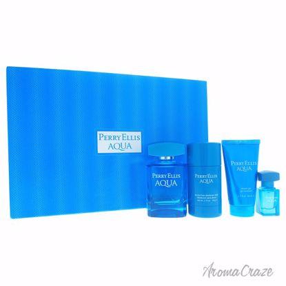 Perry Ellis Aqua Gift Set for Men 4 pc
