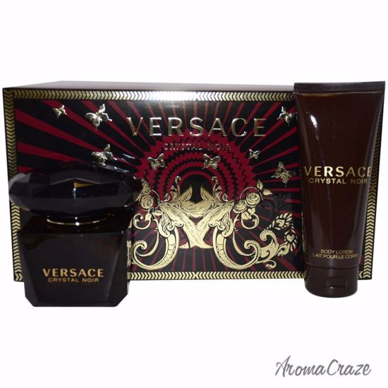 Versace Crystal Noir Gift Set for Women 3 pc
