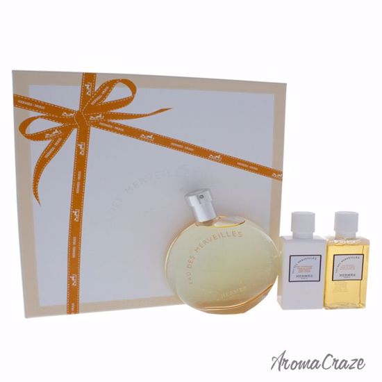 Hermes Eau Des Merveilles Gift Set for Women 3 pc
