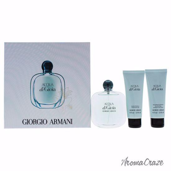 Giorgio Armani Acqua Di Gioia Gift Set For Women 3 Pc Aromacraze