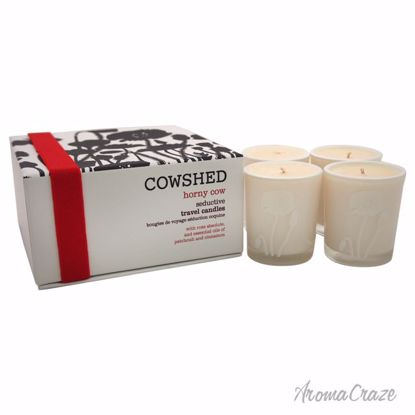 Cowshed Horny Cow Seductive Travel Candle for Women 4 x 1.34 oz - Scented Candles | Best Scented Candles | Scented Candles in Bulk | Best Smelling Candles | Luxury Candles | Christmas Scented Candles | AromaCraze.com
