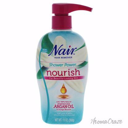 Nair Shower Power Nourish Moroccan Argan Oil & Orange Blossom Hair Remover Unisex 13 oz - Hair Remover   Hair Remover For Women   Hair Care Products   Hair Remover Cream   AromaCraze.com