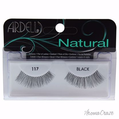 Ardell Natural # 117 Black Eyelashes for Women 1 Pair - Eye Makeup | Eye Makeup Kit | Eye Shadow | Eye liner | Eye Mascara | Eye Cosmetics Products | Eye Makeup For Big Eyes | Buy Eye Makeup Online | AromaCraze.com