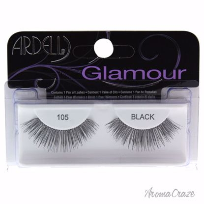 Ardell Glamour # 105 Black Eyelashes for Women 1 Pair - Eye Makeup | Eye Makeup Kit | Eye Shadow | Eye liner | Eye Mascara | Eye Cosmetics Products | Eye Makeup For Big Eyes | Buy Eye Makeup Online | AromaCraze.com