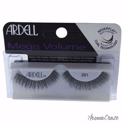 Ardell Mega Volume # 251 Black Eyelashes for Women 1 Pair - Eye Makeup | Eye Makeup Kit | Eye Shadow | Eye liner | Eye Mascara | Eye Cosmetics Products | Eye Makeup For Big Eyes | Buy Eye Makeup Online | AromaCraze.com