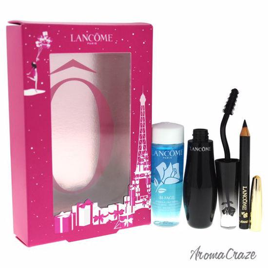 35a22281d3b Lancome The Wide-Angled Fan Effect 1oz Bi Facil Cleanser, 0.02oz Mini  Crayon Khol # 1 Noir, 0.35oz Grandiose # 1 Noir Mirifique Mascara for Women  3 Pc Set