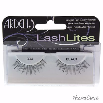Ardell LashLites # 334 Black Eyelashes for Women 1 Pair - Eye Makeup | Eye Makeup Kit | Eye Shadow | Eye liner | Eye Mascara | Eye Cosmetics Products | Eye Makeup For Big Eyes | Buy Eye Makeup Online | AromaCraze.com