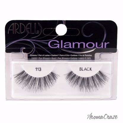 Ardell Glamour # 113 Black Eyelashes for Women 1 Pair - Eye Makeup | Eye Makeup Kit | Eye Shadow | Eye liner | Eye Mascara | Eye Cosmetics Products | Eye Makeup For Big Eyes | Buy Eye Makeup Online | AromaCraze.com