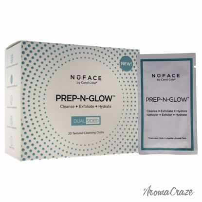 NuFace Prep-N-Glow Textured Cleansing Cloths for Women 20 Pc