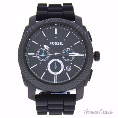 Fossil FS4487P Machine Chronograph Black Silicone Watch for