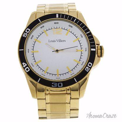 Louis Villiers LV1009 Gold Stainless Steel Bracelet Watch fo