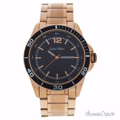 Louis Villiers LV1010 Rose Gold Stainless Steel Bracelet Wat