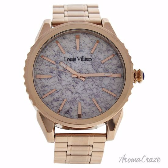 Louis Villiers Lv2064 Rose Gold Stainless Steel Bracelet Watch For