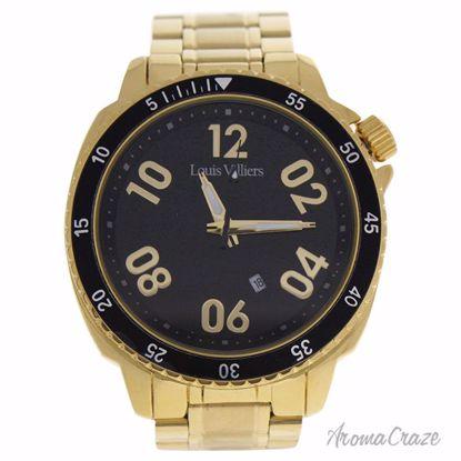 Louis Villiers LV1055 Gold Stainless Steel Bracelet Watch fo