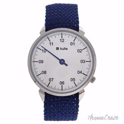 Kulte KUTPBL Forever Silver/Blue Nylon Strap Watch Unisex 1