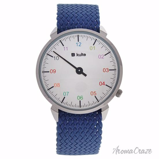 Kulte KUTPFI Fancy Illusion Silver/Blue Nylon Strap Watch Un