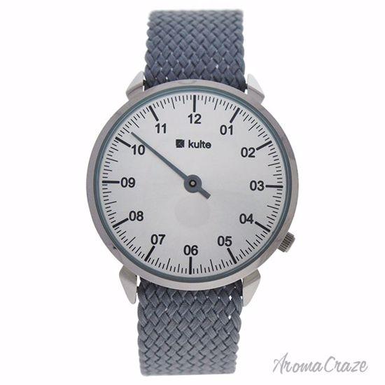 Kulte KUTPGR Mister Silver/Grey Nylon Strap Watch Unisex 1 P