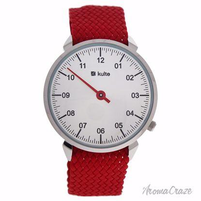 Kulte KUTPR Silver/Red Nylon Strap Watch Unisex 1 Pc