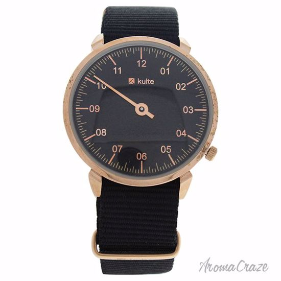 Kulte KUL01 Forever Young Rose Gold/Black Nylon Strap Watch Unisex 1 Pc - Best Unisex Watches | Unisex Watches on Sale | Watches For Men and Women | Affordable Luxury Watches | AromaCraze.com