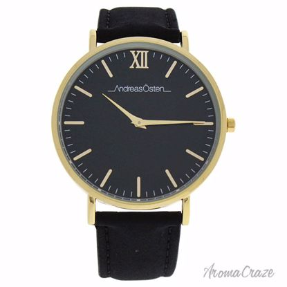 Andreas Osten AO-104 Tidlos Gold/Black Leather Strap Watch Unisex 1 Pc - Best Unisex Watches | Unisex Watches on Sale | Watches For Men and Women | Affordable Luxury Watches | AromaCraze.com