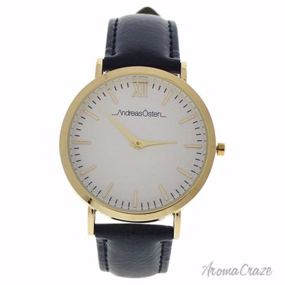 Andreas Osten AO-02 Klassisk Gold/Black Leather Strap Watch Unisex 1 Pc - Best Unisex Watches | Unisex Watches on Sale | Watches For Men and Women | Affordable Luxury Watches | AromaCraze.com
