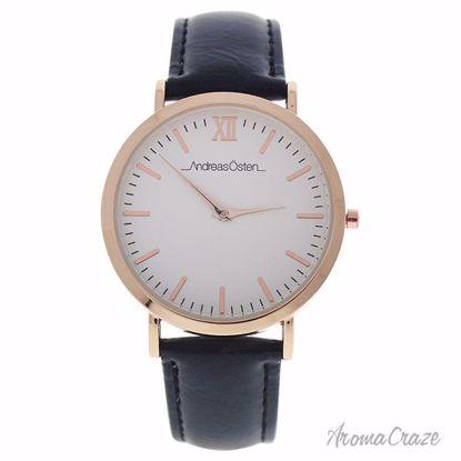 Andreas Osten AO-03 Klassisk Rose Gold/Black Leather Strap Watch Unisex 1 Pc - Best Unisex Watches | Unisex Watches on Sale | Watches For Men and Women | Affordable Luxury Watches | AromaCraze.com