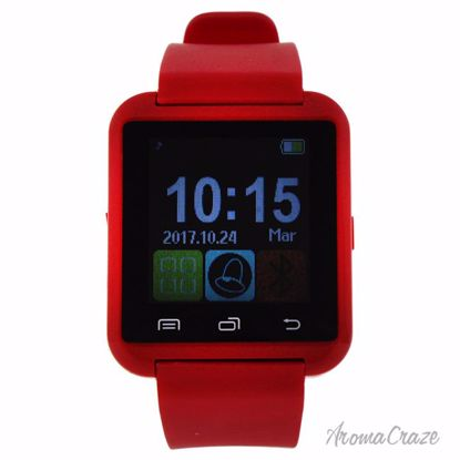 Eclock EK-A2 Montre Connectee Red Silicone Strap Smart Watch