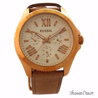 Fossil AM4532P Cecile Multifunction Sand Leather Watch for W