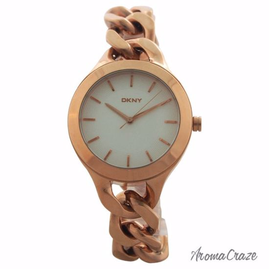7117ebb02648d DKNY NY2218 Chambers Rose Gold-Tone Stainless Steel Chain Bracelet Watch  for Women 1 Pc