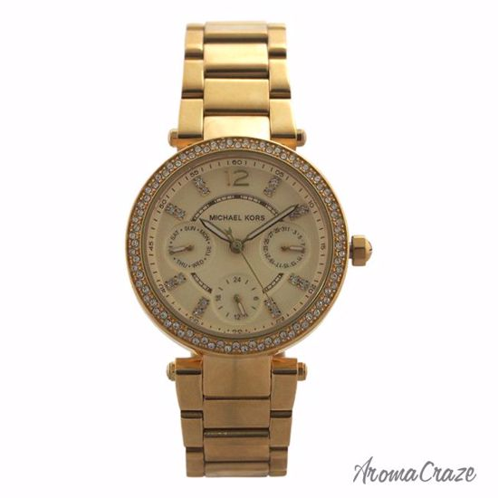 c0fc700f2f80 Michael Kors MK6056 Chronograph Mini Parker Gold-Tone Stainless Steel  Bracelet Watch for Women 1 Pc