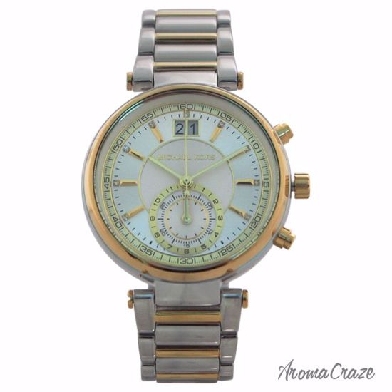 b031d635a0bf Michael Kors MK6225 Chronograph Sawyer Two-Tone Stainless Steel Bracelet  Watch for Women 1 Pc