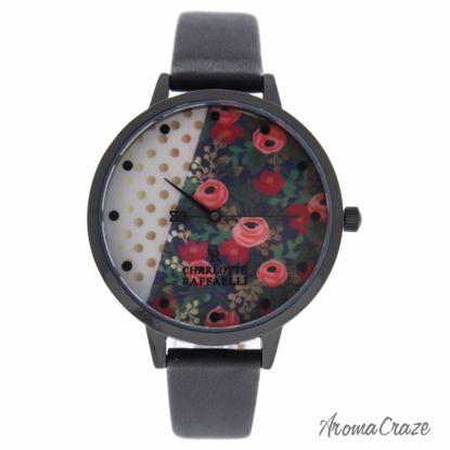 Charlotte Raffaelli CRF026 La Florale Black Leather Strap Wa