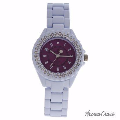 Kim & Jade 2033L-WP White Stainless Steel Bracelet Watch for