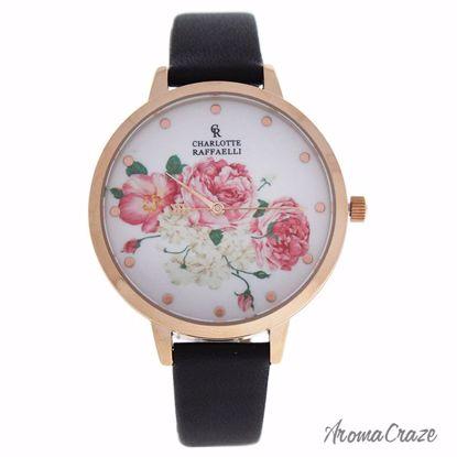 Charlotte Raffaelli CRF003 La Florale Rose Gold/Black Leathe