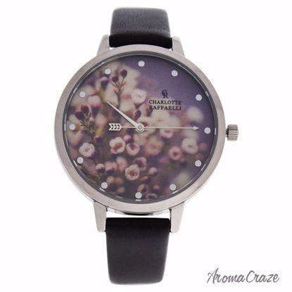 Charlotte Raffaelli CRF013 La Florale Silver/Black Leather S